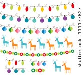 christmas decoration vector set.... | Shutterstock .eps vector #111177827