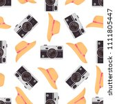 photo camera background. vector ... | Shutterstock .eps vector #1111805447