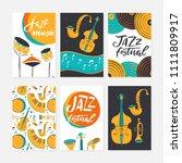 vector set of jazz festival...   Shutterstock .eps vector #1111809917