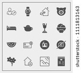 modern  simple vector icon set... | Shutterstock .eps vector #1111813163