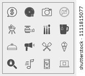 modern  simple vector icon set... | Shutterstock .eps vector #1111815077
