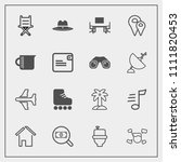 modern  simple vector icon set... | Shutterstock .eps vector #1111820453