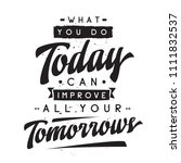 inspirational quote  motivation.... | Shutterstock .eps vector #1111832537