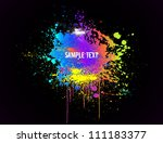 Color paint splashes. Vector background - stock vector