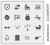 modern  simple vector icon set... | Shutterstock .eps vector #1111839257