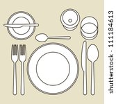 place setting | Shutterstock .eps vector #111184613