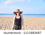 beautiful young happy woman in... | Shutterstock . vector #1111883687