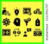 business icons set of light ...