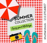 summer collection  enjoy your... | Shutterstock .eps vector #1111916807