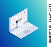 isometric concept of data... | Shutterstock .eps vector #1111942013