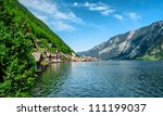 view of hallstatt. village in... | Shutterstock . vector #111199037