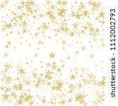gold flying stars confetti... | Shutterstock .eps vector #1112002793