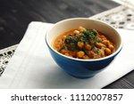 simple vegetable soup. european ... | Shutterstock . vector #1112007857