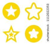 star set. vector illustration....