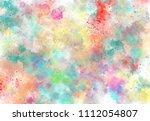 abstract watercolor digital art ... | Shutterstock . vector #1112054807