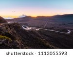 sunrise over the plaine des... | Shutterstock . vector #1112055593