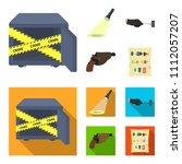 the detective's flashlight... | Shutterstock .eps vector #1112057207