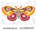 night tropical moths hawkmoth... | Shutterstock .eps vector #1112084537