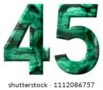 arabic numeral 45  forty five ... | Shutterstock . vector #1112086757