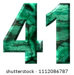 arabic numeral 41  forty one ... | Shutterstock . vector #1112086787