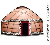 yurt isolated on white... | Shutterstock .eps vector #1112088203