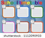 school timetable  a weekly... | Shutterstock .eps vector #1112090933