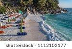 marble beach  saliara beach  ... | Shutterstock . vector #1112102177