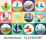 sport life stile infographic... | Shutterstock . vector #1112102387