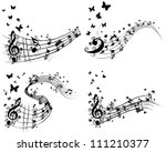 set of musical background with... | Shutterstock . vector #111210377
