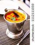 north india food tadka dal in... | Shutterstock . vector #1112111033