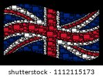 waving british state flag on a...   Shutterstock .eps vector #1112115173