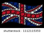 waving great britain flag on a... | Shutterstock .eps vector #1112115353