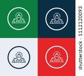 shop location icon. vector... | Shutterstock .eps vector #1112120093