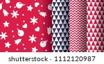 simple classic xmas seamless... | Shutterstock .eps vector #1112120987