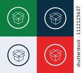 box icon. vector illustration. | Shutterstock .eps vector #1112125637