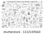 various sketches on school...   Shutterstock .eps vector #1112135663