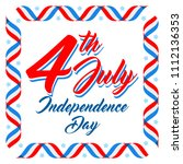 american patriotic background ... | Shutterstock .eps vector #1112136353
