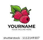 raspberry  berries raspberries... | Shutterstock .eps vector #1112149307