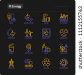 energy thin line icon  factory  ... | Shutterstock .eps vector #1112155763
