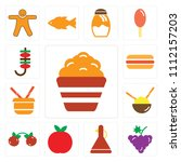 set of 13 simple editable icons ... | Shutterstock .eps vector #1112157203