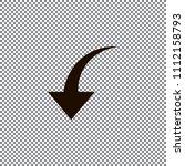 redo arrow icon. direction... | Shutterstock .eps vector #1112158793