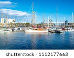 port with yachts in barcelona ... | Shutterstock . vector #1112177663