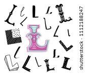 set of letter l in different... | Shutterstock .eps vector #1112188247