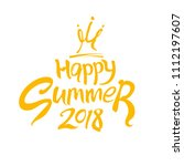 happy summer 2018 and crown... | Shutterstock .eps vector #1112197607