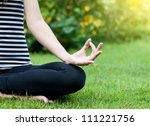 Yoga woman - stock photo