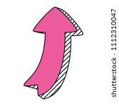 pictogram arrow sign direction... | Shutterstock .eps vector #1112310047