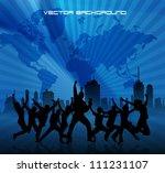 music party illustration   Shutterstock .eps vector #111231107