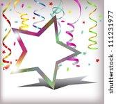 star background serpentine | Shutterstock . vector #111231977