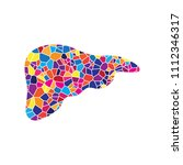 human anatomy. liver sign.... | Shutterstock .eps vector #1112346317