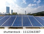 solar and modern city skyline | Shutterstock . vector #1112363387